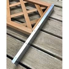 Fence Trellis Topper Bracket Height Extension Arms Pack 5 Pairs Inc Screws