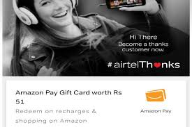 airtel giving away free amazon pay gift