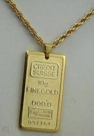 10g faux credit suisse gold bar and