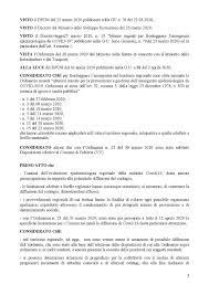 3 aprile 2020 - Ordinanza del Presidente della Regione Calabria n. 25