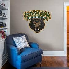 Fathead Baylor Bears Logo Giant Officially Licensed Removable Wall Decal Walmart Com Walmart Com