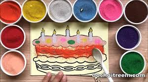 Đồ chơi trẻ em TÔ MÀU TRANH CÁT bánh gato mừng sinh nhật - Colored Sand  Painting (Chim Xinh)─影片 Dailymotion