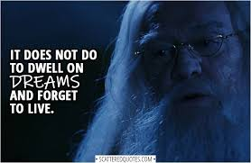 it does not do to dwell on dreams harry and forget to live