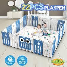 Kidbot 22 Panel Baby Safety Gate Baby Playpen Fence Child Gate Enclosure Owl Design Crazy Sales