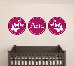 Custom Name Butterflies Wall Decal Egraphicstore