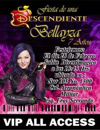 Descendientes Invitacion Gafete Digital Promo 55 00 En Mercado