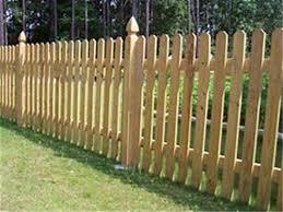 Treated Wood Dog Ear Picket Fence 3 H X 8