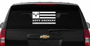 B208a 21 Large Team Hoyt Archery Hunting Arrow Bow White Vinyl Decal Car Truck Ebay