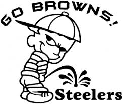 Go Browns Pee On Steelers Decal Car Or Truck Window Decal Sticker Rad Dezigns