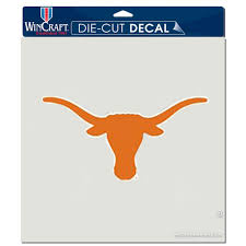 Texas Longhorns Wincraft 8 X 8 Color Car Decal