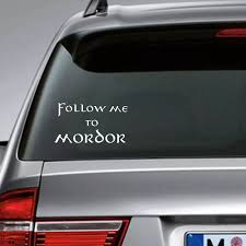 Follow Me To Mordor Funny J R R Tolkien Inspired Car Decal Decals Home Decal Kitdecal Wall Aliexpress