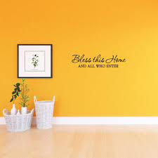 Vwaq Bless This Home And All Who Enter Wall Quotes Decal