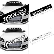 Car Front Rear Windshield Banner Decal For Sparco Vinyl Auto Reflective Sticker Ebay