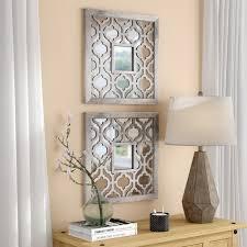 uptal square silver leaf accent mirror