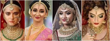indian bridal hair and makeup ideas