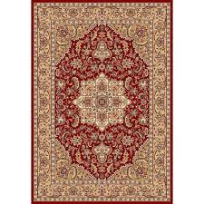 barwicks red beige medallion area rug