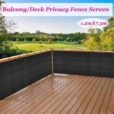 Black Privacy Screen Fence Mesh Windscreen Garden Fence Protection Privacy Balcony Fence Net For Patio Backyard Porch Pool Shade Sails Nets Aliexpress