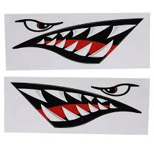 Lyumo 2pcs Waterproof Diy Funny Shark Teeth Mouth Sticker Decal Car Kayak Boat Truck Decoration Car Sticker Shark Teeth Mouth Sticker Walmart Com Walmart Com