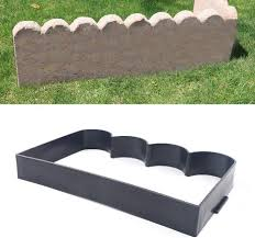Amazon Com Cncest Diy Decorative Fence Mould Vegetable Garden Pond Lawn Concrete Brick Edging Mold For Diy Balustrade Walkway Outdoor Decoration Garden Outdoor