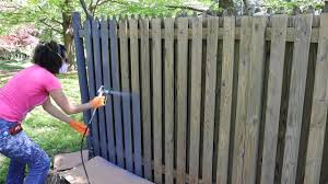 How To Use A Paint Sprayer To Paint A Wood Fence Thrift Diving Youtube
