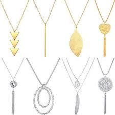 hicarer 8 pieces long pendant necklace