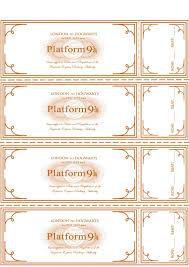 Ticket Del Expresso De Howarts Para Imprimir Mas Invitaciones De