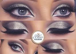 glitter cut crease makeup tutorial