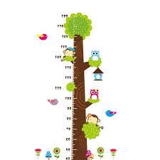 Removable Diy Pvc Cartoon Kids Height Measure Ruler Nursery Growth Cha Homewarer