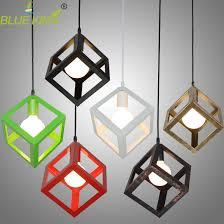 vintage cube pendant lights northern