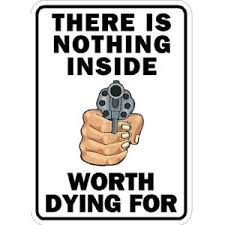 There Is Nothing Inside Worth Dying For Sticker At Sticker Shoppe