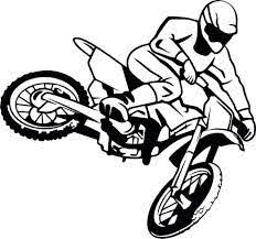 Sticker Motocross Decal For Car Window Or Laptop Etsy
