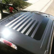 Ford F150 Sunroof American Flag Decal Seirra Offroad Merica Banners Onlineamericanstore