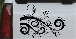 Swirl Vine Wall Decal Car Or Truck Window Decal Sticker Or Wall Art Decalsrock