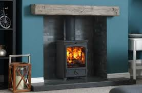 open fire to a wood burner