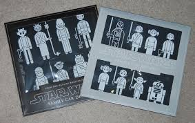 Star Wars Family Car Decals Scum And Villainy Booster Pack By Think Geek Mighty Jabba S Collection