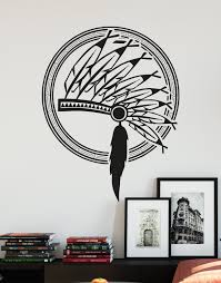 Native American Indian Headdress Vinyl Wall Decal Sticker Os Aa397 Vinyl Wall Decals Wall Decal Sticker Wall Decals
