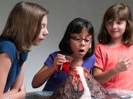 baking soda volcano science fair project