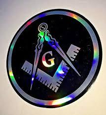 Masonic Decal 3 5 Logo Freemason Car Black Freemasonry Sticker 3d Feel Ebay