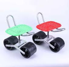 garden cart rolling work seat with tool