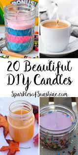 20 beautiful diy candles you can easily