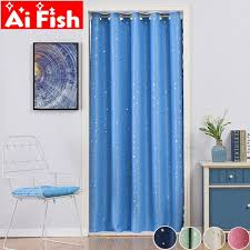 2020 Modern Shiny Stars Curtains For Kids Bedroom Living Room Door Partition Decoration Kitchen Grommet Blackout Cortinas Drape 4 From Hibooth 28 27 Dhgate Com