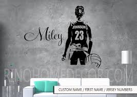 Amazon Com Volleyball Wall Art Large Volley Ball Player Vinyl Decal Sticker Custom Jersey Name First Name Numbers Girl Women Sticker Decor Sports Handmade