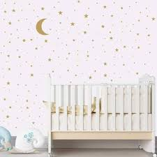 Gold Silver Black Moon Stars Wall Sticker Creative Diy Art Home Decor Wall Decals Stickers For Kids Room Baby Nursery Bedroom Wall Stickers Aliexpress