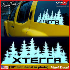 Nissan Xterra Decal Custom Vinyl Forest By Finishingtouchvinyls Nissan Xterra Nissan Accessories Mountain Decal