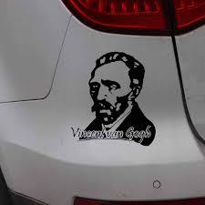 Yjzt 13 5cm 14 9cm Car Sticker Vincent William Van Gogh Artist Vinyl Decal Black Silver C27 0142 Car Stickers Aliexpress