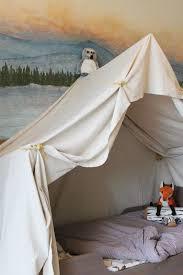 Remodelaholic Camping Tent Bed In A Kid S Woodland Bedroom Indoor Tent For Kids Kids Bed Canopy Indoor Tents