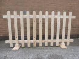 Stand Alone Picket Fencing Untreated 6ft X 3ft Free Standing Arka Bahceler Cit Fikirleri Bahce Citleri