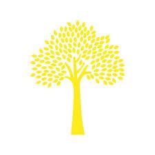 Tree 3 Vinyl Decal Medium Yellow Walmart Com Walmart Com
