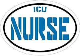 Amazon Com Wickedgoodz Blue Icu Nurse Vinyl Window Decal Rn Bumper Sticker Intensive Care Lpn Cna Rn Gift Automotive