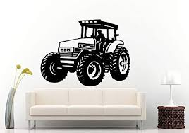 Amazon Com Adecalsnew Wall Decals Cute Tractor Trailer Big Tires Farmer Vehicle Work Boys Room Kids Children Toddler Wall Decal Vinyl Sticker Mural Room Decor Made In Usa Fast Delivery Home Kitchen